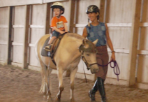 Indoor Riding lessons at Triple Combination Farm, Ferrisburgh, Vermont